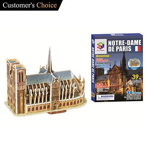 Eforoutdoor Puzzle Notre Dame de Paris Model, Notre Dame De Paris Puzzle 3D Puzzle Architectural Model Souvenir Notre-Dame Cathedral De Paris France