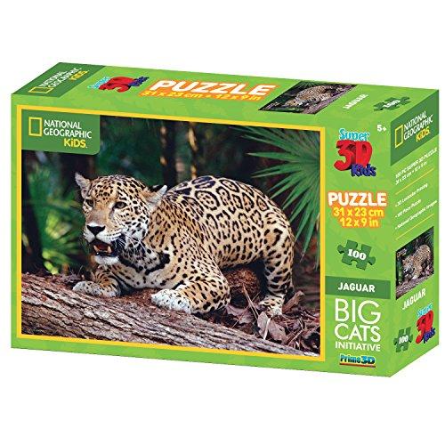 National Geographic Big Cats Jaguar Super 3d Puzzle (100-piece, Multi-colour)