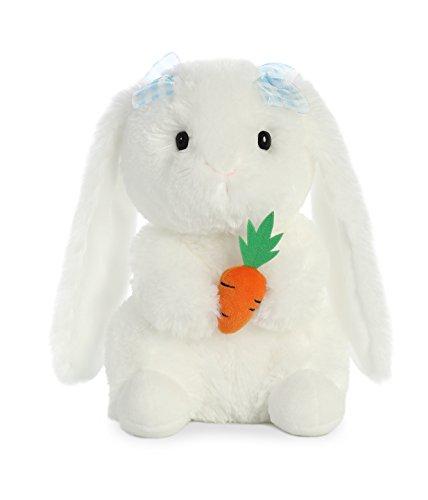 Aurora World Plush Garden Bunny with Blue Bows