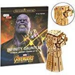 "Marvel Avengers Infinity War Infinity Gauntlet Book and 3D Wood Model Kit - Build, Paint and Collect Your Own Wooden Model - Great For Kids and Adults, 12+ - 4.5""h"