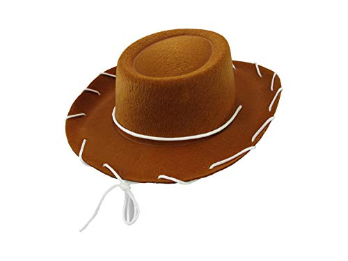 Child Western 1950's Style Kids Cowboy Ranch Hat, Brown, One Size