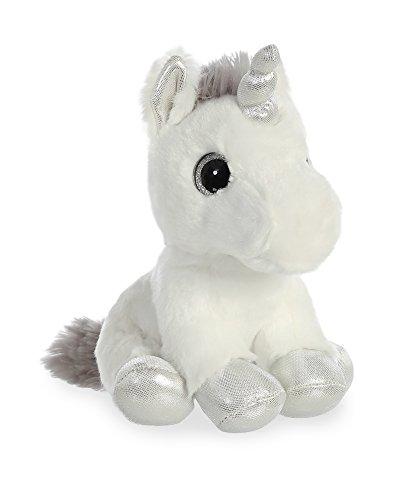 Aurora World Sparkle Tales Plush Silver Unicorn, Small