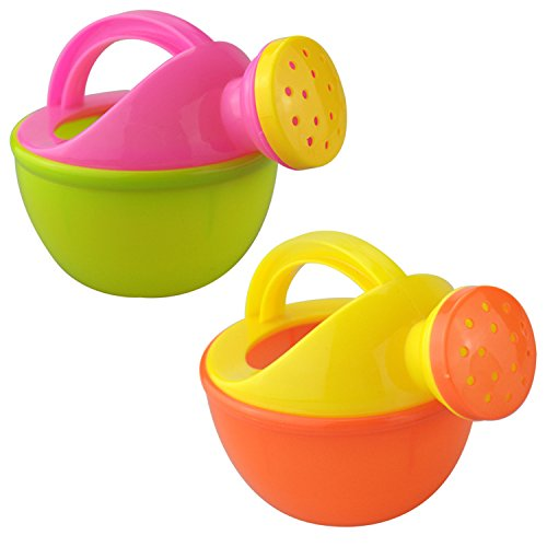 MeterMall Baby Bath Toy Plastic Watering Can Watering Pot Beach Toy Play Sand Toy Gift for Kids Random Color