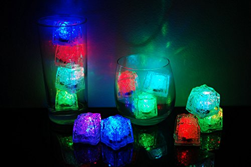 Litecubes Brand 8 Mode MultiColor Rainbow Light up LED Ice Cubes (12)