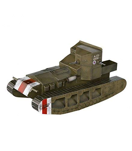 Innovative 3D-Puzzle - Medium Tank Whippet (Great Britain) - Tank's series by Clever Paper Scale 1/35