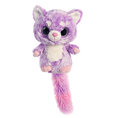 Aurora World Hapee The Caring Lesser Panda YooHoo and Friends Plush Toy (Small, Purple/White/Pink)