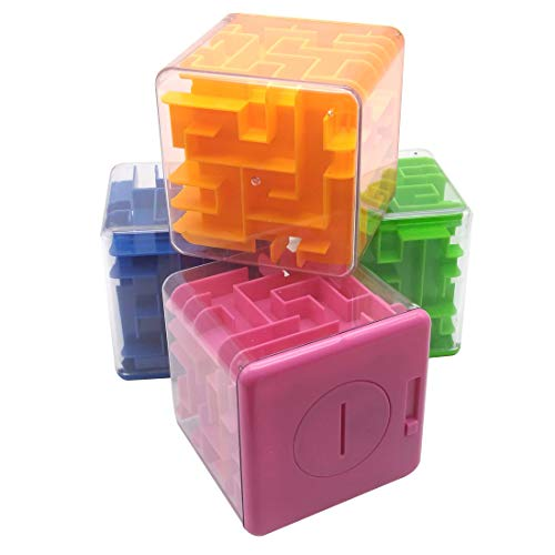 Funny 3D Maze Magic Cube Puzzle Money Maze Bank Speed Cube Puzzle Game Labyrinth Ball Toys Magical Maze Ball Games Educational Toys (we Will Send Random Color)