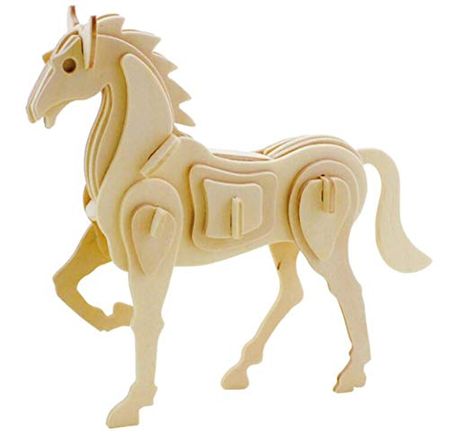 3D Zodiac Assembly Wooden Puzzle Toy Games Best Birthday Gifts for Child-Horse