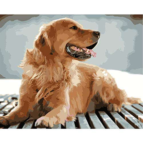 Classic Jigsaw Puzzle 1000 Pieces Adults Children Wooden Puzzle DIY Lookout Golden Retriever Animal Modern Home Decor Wall Art Intelligence Game Unique Gift