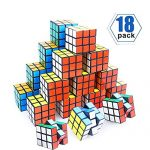 YCS Mini Cube, 18 Pack Party Puzzle Toy,Puzzle Game Set for Boy, Girl, Kid and Child, Magic Cube for Birthday Gift