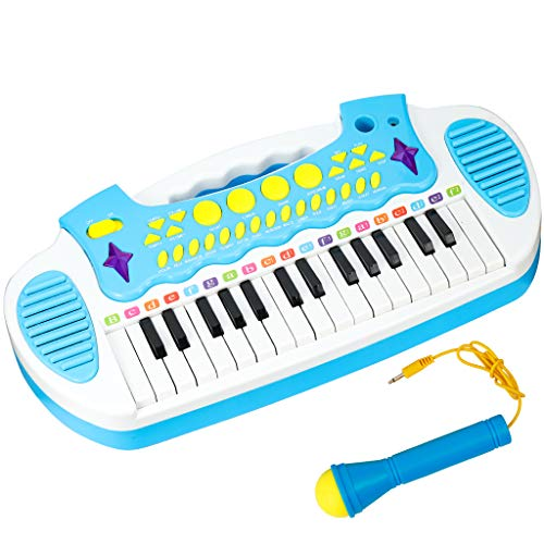 Conomus Piano Keyboard Toy for Age 2 3 4 Year Old Girls First Birthday Gift , 31 Keys Multifunctional Musical Electronic Toy Piano for Toddlers