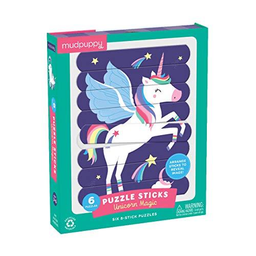 Mudpuppy Unicorn Magic Puzzle Sticks