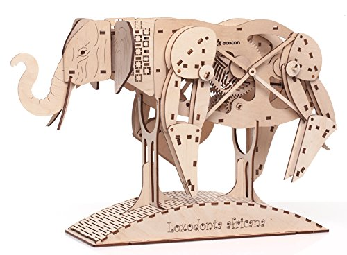 ECOCON African Elephant Animate Wooden Mechanical Models 3D Puzzle