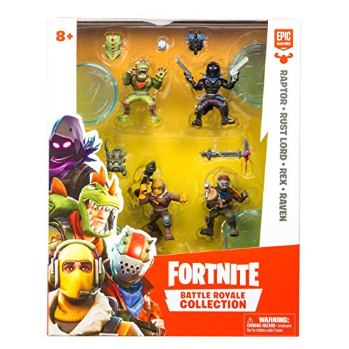Fortnite Battle Royale Collection: Squad Pack - Raptor, Rust Lord, Rex & Raven Mini Action Figures
