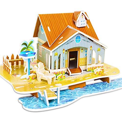 partion Kids Children 3D Puzzle Paper Model, Bathroom Toys Pegged Puzzles