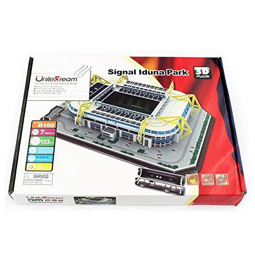 DIY Puzzle Model of Dortmund Iduna Signal Park Stadium in Germany, 3D Puzzle of World Football Field, Educational Toys