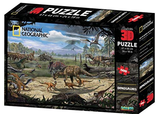 Gift Craft 3D Puzzle - Dinosaurs - 500 Pieces