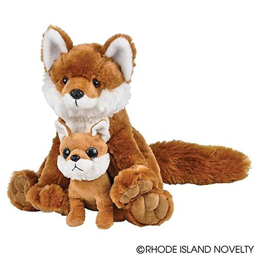 Adventure Planet Birth of Life Red Fox with Baby Plush Toy 11
