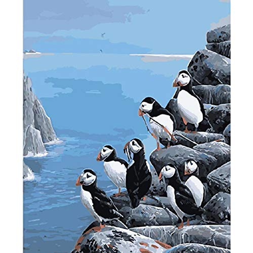 Jigsaw Puzzle 1000 Piece for Adults Puzzle 3D Wooden Classic Puzzle Penguins On The Cliff Animal DIY Collectibles Modern Home Decoration 75X50Cm