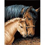 Jigsaw Puzzle 1000 Piece Wooden Puzzle Adults Puzzles Two Horses Looking Grass Children Art DIY Leisure Game Fun Toy Suitable Family Friends