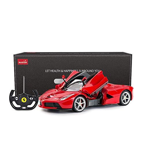 RASTAR RC Car | 1/14 Scale Ferrari LaFerrari Radio Remote Control R/C Toy Car Model Vehicle for Boys Kids, Red, 13.3 x 5.9 x 3.3 inch