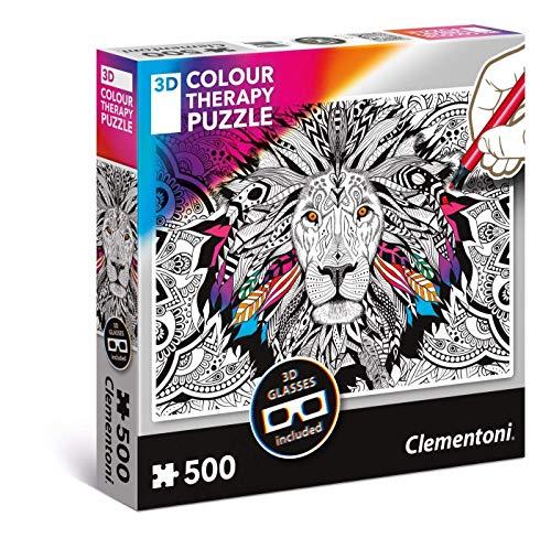 Lion Colour Therapy Jigsaw Puzzle (500 Pieces)
