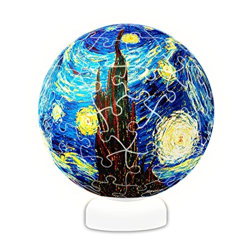 Pintoo - J1013 - Vincent Van Gogh - The Starry Night, June 1889 - 60 Piece Plastic Puzzle Sphere Light