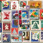 White Mountain Puzzles Christmas Stamps, 1000 Piece Jigsaw Puzzle