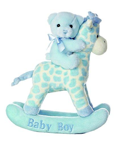 Aurora World Comfy Giraffe Rocker Baby Boy Musical 12