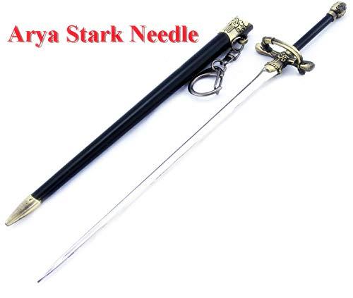 Game of Thrones Arya Stark Needle Sword Metal Weapon Model Art Figure Arts Toys Collection Keychain Gift Presents Kids