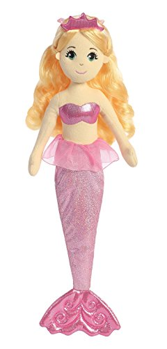 Aurora World Sea Sparkles Mermaid Plush, Topaz