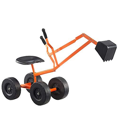 Albott Ride On Sand Digger Outdoor Kids Toys Working Crane with 8 inches Wheels Big Dig Sandbox