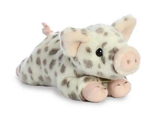 Aurora World Miyoni Plush Spotted Piglet Plush Toy, Multicolor