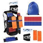 Shape Mart Tactical Vest Kit, Kid Tactical Vest with Refill Darts for Nerf Guns N-Strike Elite Series, Boys Cool Toy for Kids Age 5, 6, 7, 8, 9, 10, 11, 12