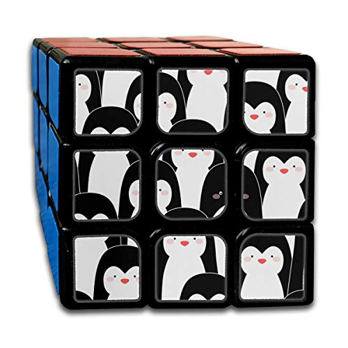 Custom 3x3 Cube Puzzle Best Brain Training Toys 3x3x3 Cute Cartoon Penguin for Kids 3D Puzzle Toy Party Game for Boys Girls Kids Toddlers-55mm