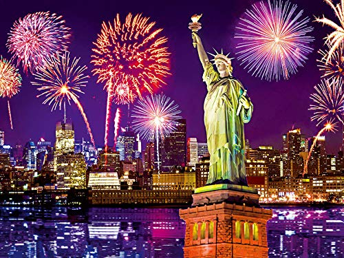 Fireworks at Night, NYC, New York City 500 pc Colorluxe Jigsaw Puzzle